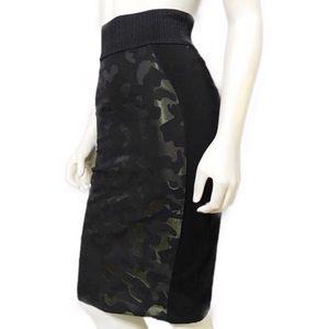 Maeve Anthropologie Camo Pencil Skirt Sz-0